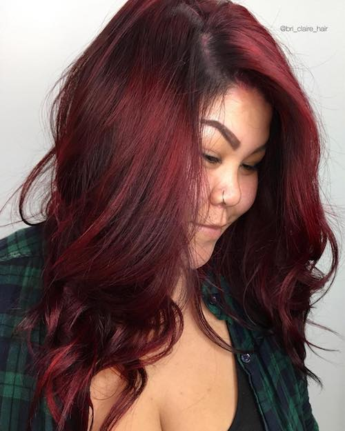 ruby red hairstyle