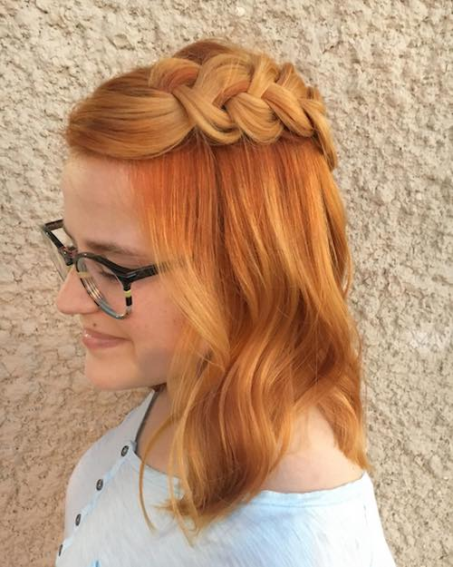 ginger hair color with braids