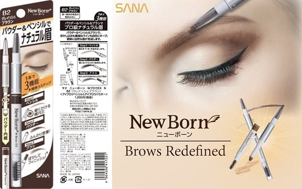 sana newborn eyebrow pencil for asian brows