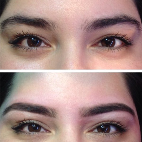 the browgal eyebrow pencil before and after
