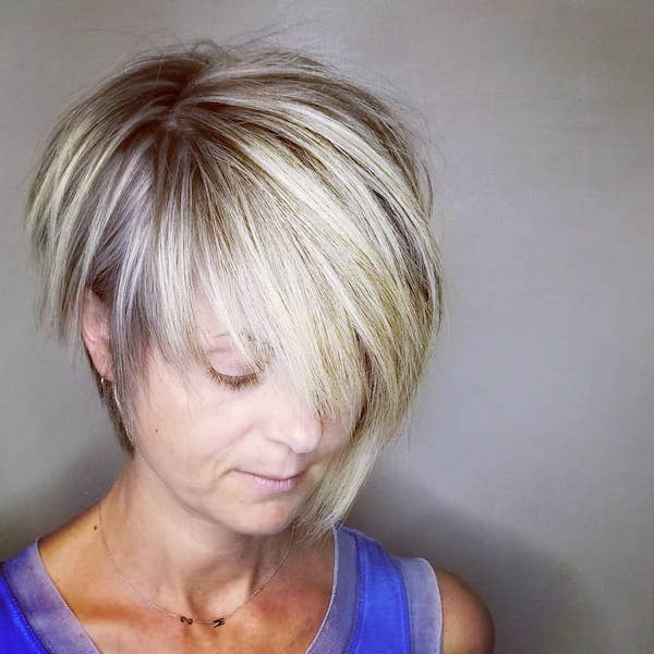 Feather Cut for Women Over 50