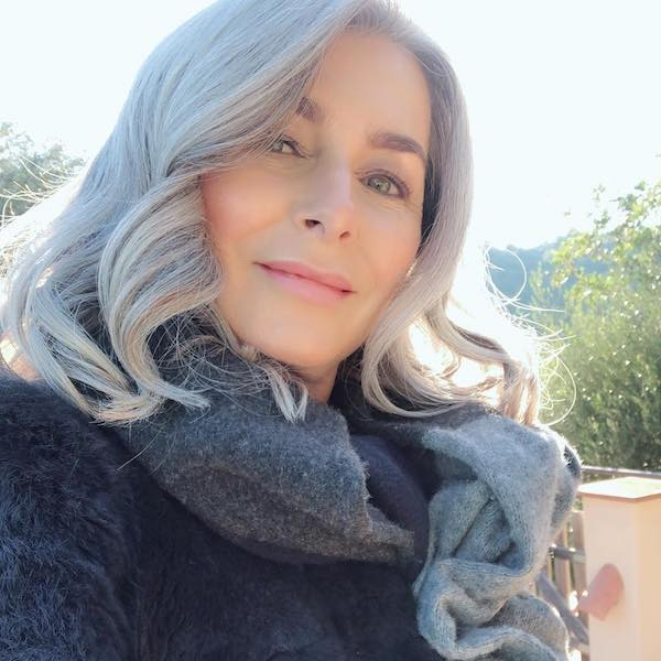 over 50 styled gray hair