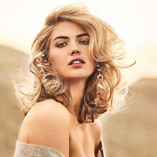 Kate Upton Feathered Hair