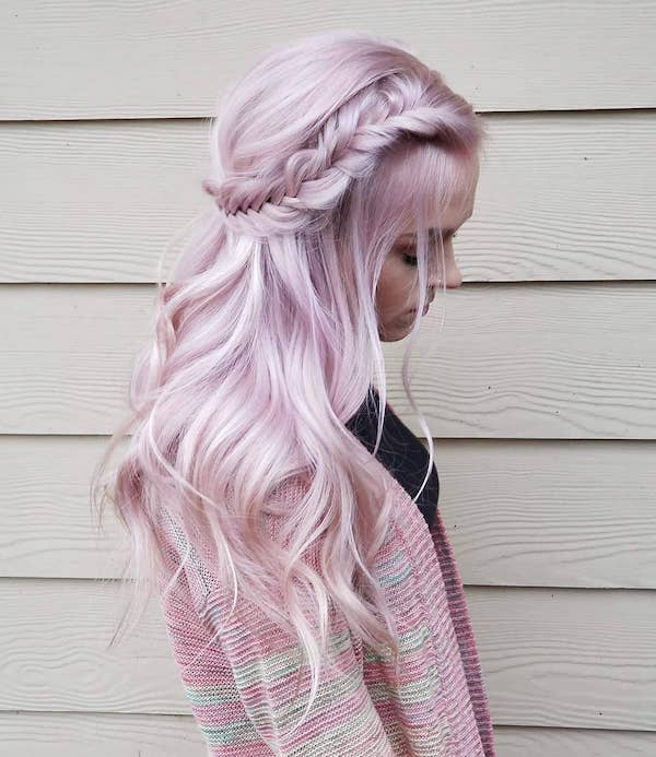 Bubble gum pink hair
