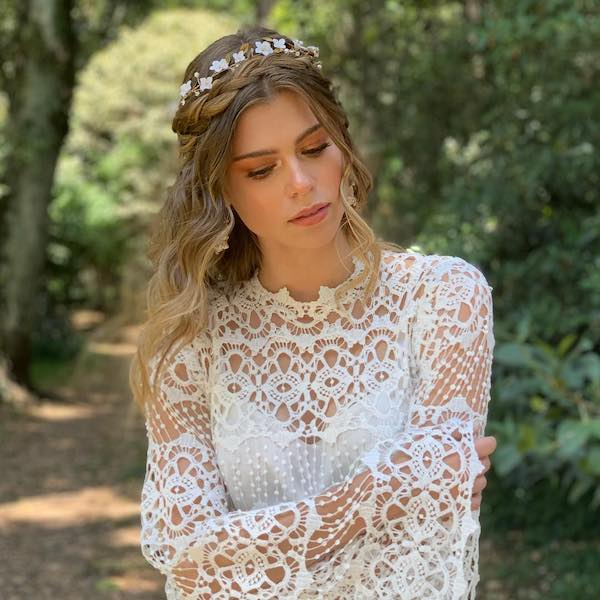 Crown Braid Wedding Hairstyles: 83 Unique Wedding Hairstyles For Different Necklines 2019