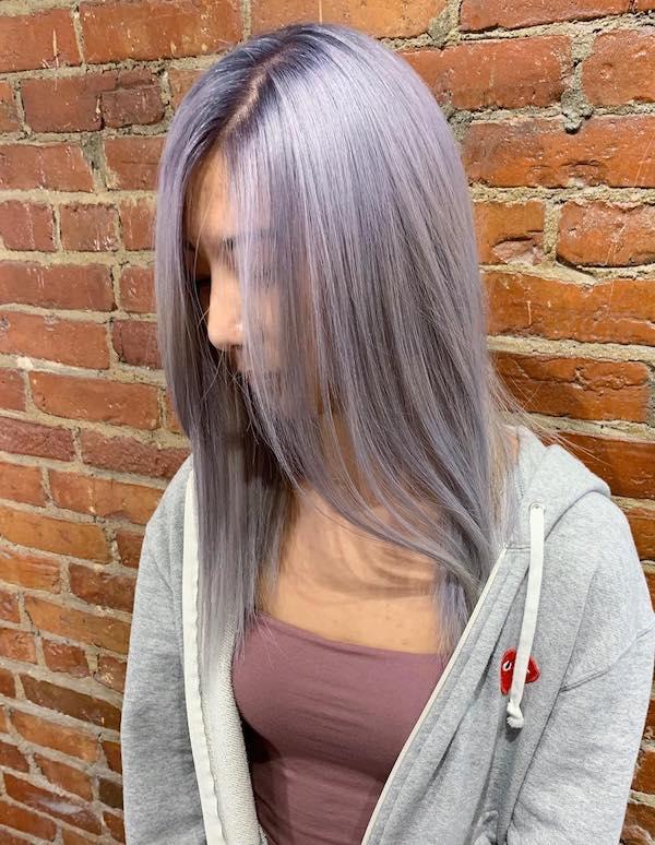 straight lilac balayage