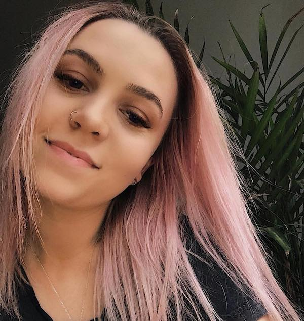 Pastel pink hair color for straight hair