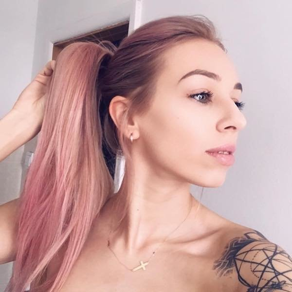 rose gold pony tail