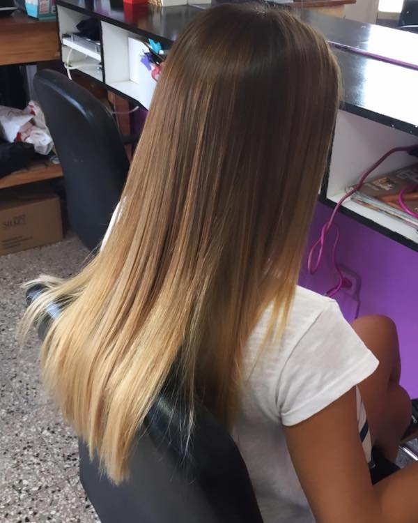 long soft blonde balayage hair color