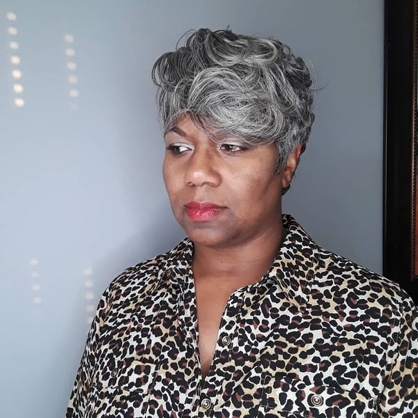 Short Beehive for Dark Skin Over 50