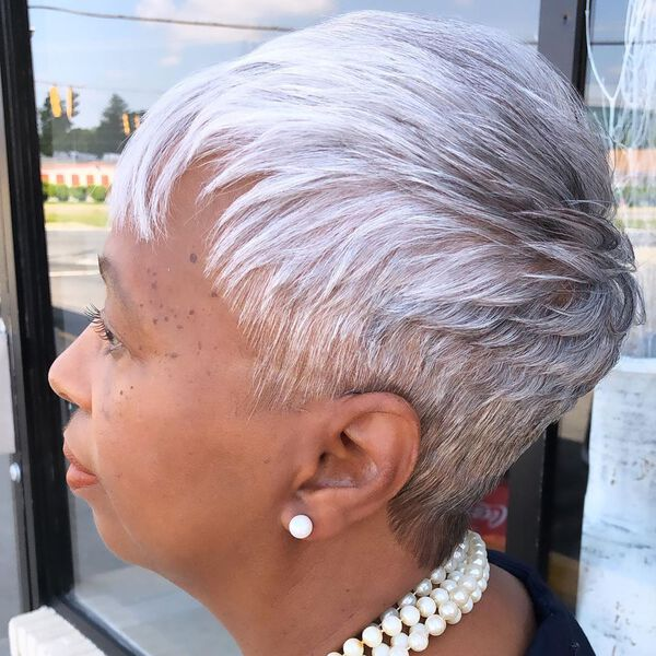 Cropped Pixie for Dark Skin and Thin Hair Over 50
