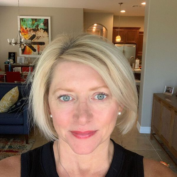 Side Part Bob for Blondes Over 50