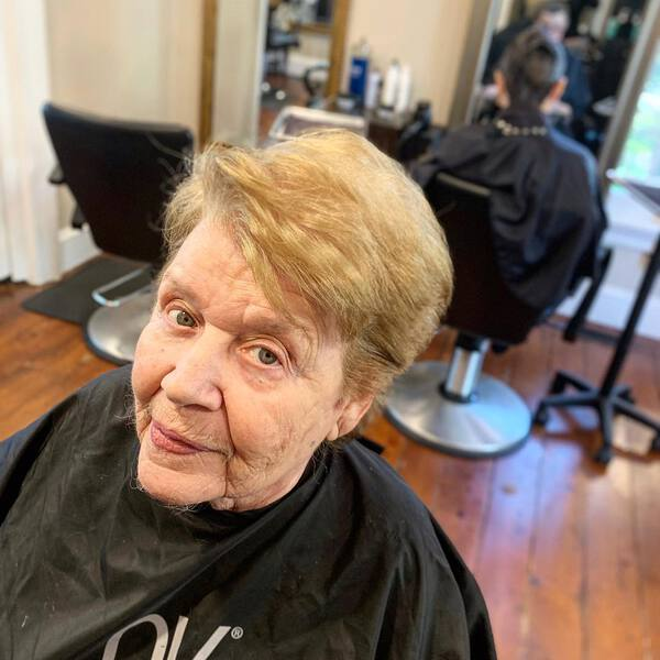 Side Swept Bangs for Blondes Over 50