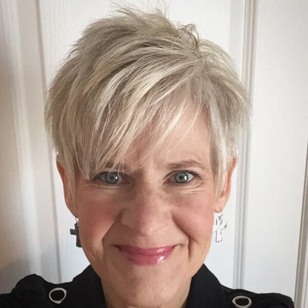 Spiky Bangs Pixie for Blondes Over 50