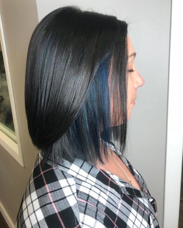 Azure Blue Black Asian Hair