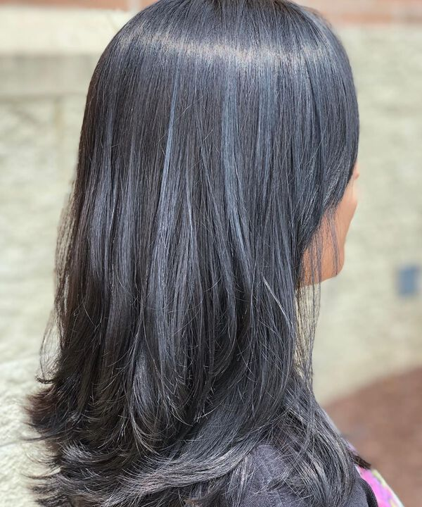 Blue Gray Black Asian Hair Color