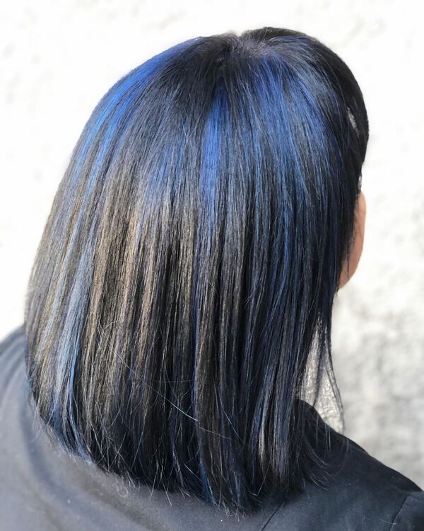 Cobalt Blue Black Asian Hair Color