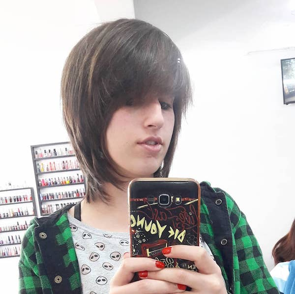 Short Brown Emo Hairstyle