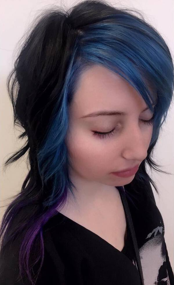 Stone Blue Black Hair Color